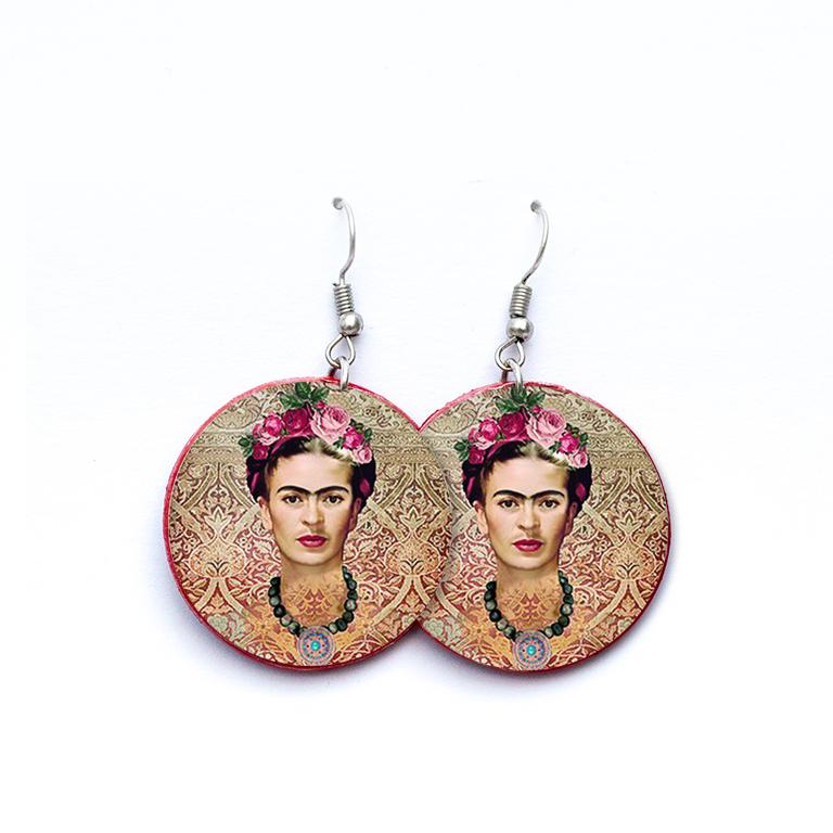 Pendientes Frida Kahlo
