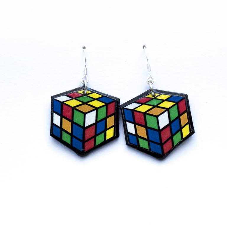 Pendientes Cubo Rubick