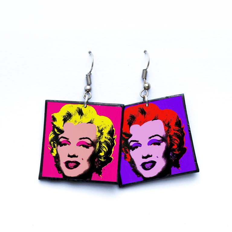 Pendientes Marilyn pop art